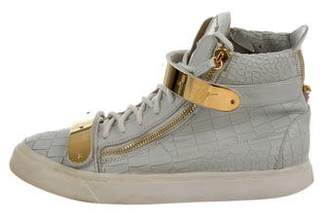 Giuseppe Zanotti Embossed High-Top Sneakers