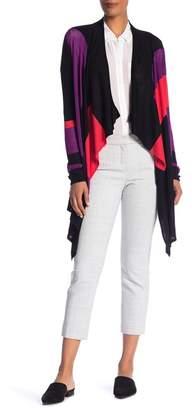 Catherine Malandrino Long Sleeve Colorblock Cardigan