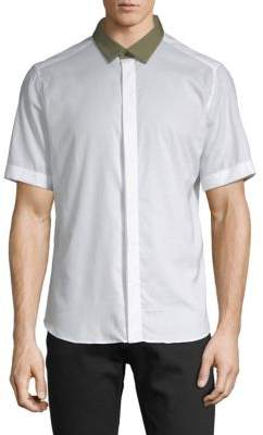 Valentino Short-Sleeve Button-Down Shirt