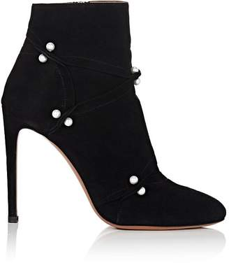Alaia Women's Embellished Suede Ankle Boots