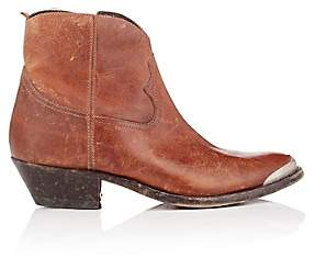 Golden Goose Women's Young Distressed Leather Ankle Boots - Brown