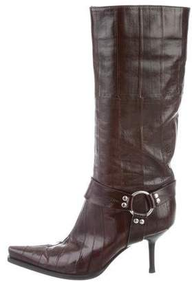 Sergio Rossi Pointed-Toe Leather Boots