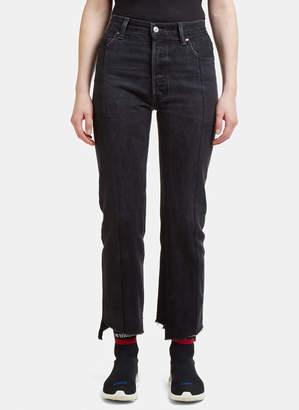Vetements Re-Worked Straight Leg Denim Jeans