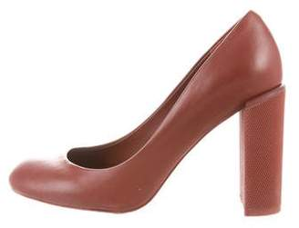 See by Chloe Leather Round-Toe Pumps