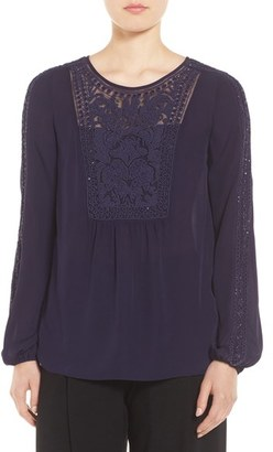 Women's Elie Tahari Beaded Silk Blouse $388 thestylecure.com