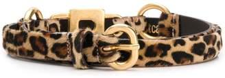Just Cavalli gold and leopard print belt