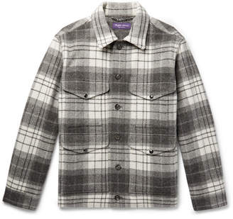 Ralph Lauren Purple Label Checked Wool And Alpaca-Blend Jacket
