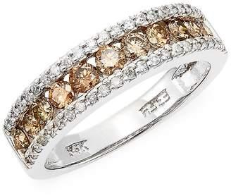 Effy Women's White & Espresso Diamond & 14K White Gold Ring - White Gold