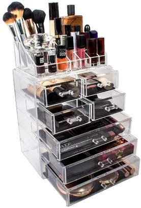 Sorbus Acrylic 7 Drawer & Top Organizer Cosmetics Makeup & Jewelry Storage Case Display Set