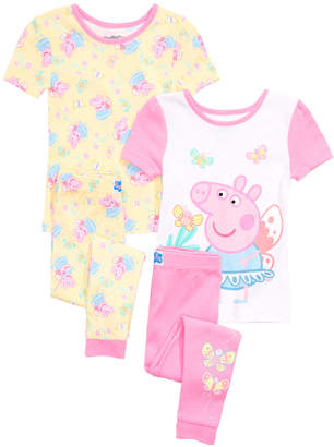 Peppa Pig Toddler Girls 4-Pc. Cotton Pajama Set