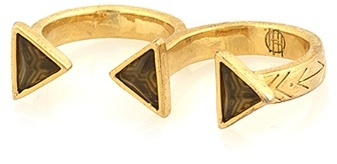 House of Harlow 1960 Pyramid Double Finger Ring