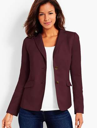 Talbots Two Button Flannel Blazer