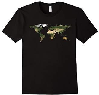 Planet Earth World Map T-Shirt