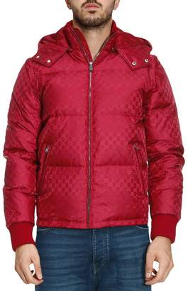 Gucci Jacket Bomber Down Jacket With Removable Sleeves And Gg Monogram