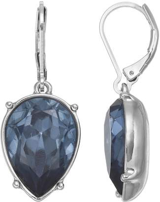 Vera Wang Simply Vera Inverted Nickel Free Blue Teardrop Earrings