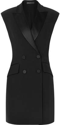 Alexander McQueen Double-breasted Crepe Tuxedo Mini Dress - Black