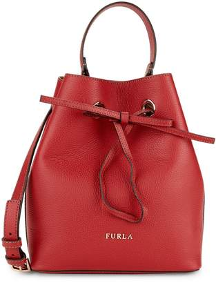 Furla Costanza Leather Bucket Bag