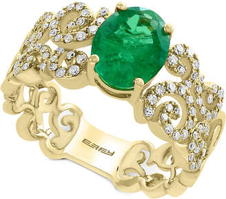 Effy Brasilica by Emerald (1-1/2 ct. t.w.) and Diamond (1/3 ct. t.w.) Ring in 14k Gold