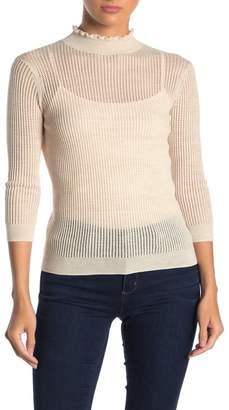AllSaints Haze Ruffle Neck Sweater