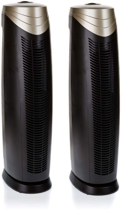 Hunter 2-pack Large HEPAtech Air Purifiers with ViroSilver Pre-Filter