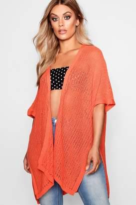boohoo Plus Crochet Kimono