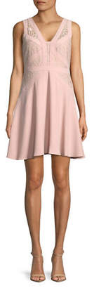 Aidan Mattox AIDAN Lace-Panelled Cocktail Dress