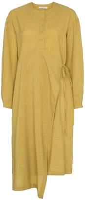 Low Classic buttoned asymmetric wrap dress