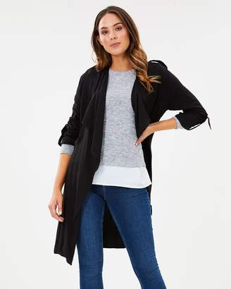 Dorothy Perkins Longline Waterfall Mac Jacket