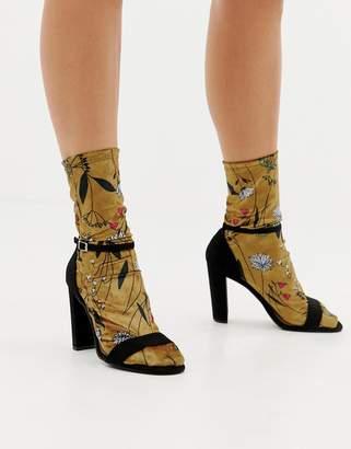 Asos DESIGN floral velvet socks