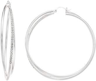 Sonoma Goods For Life SONOMA Goods for Life Simulated Crystal Nickel Free Crisscross Hoop Earrings