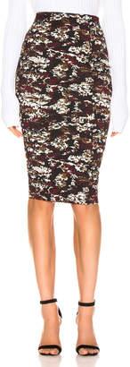 Victoria Beckham Pencil Skirt in Bordeaux & Black   FWRD