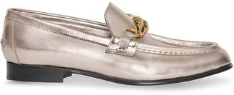 Burberry The Metallic Leather Link Loafer