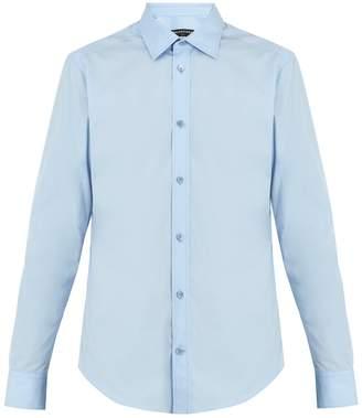 Balenciaga Point-collar single-cuff cotton shirt