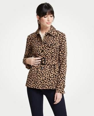 Ann Taylor Cheetah Dot Short Trench