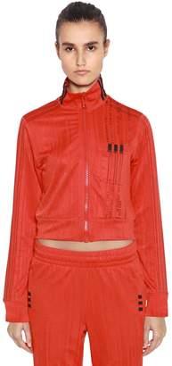 adidas By Alexander Wang Aw Logo Jacquard Cropped Track Jacket
