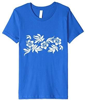 Hawaiian Print T Shirt | Vintage Retro Flower Tattoo