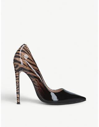 Carvela Allie zebra-ombre patent-leather courts