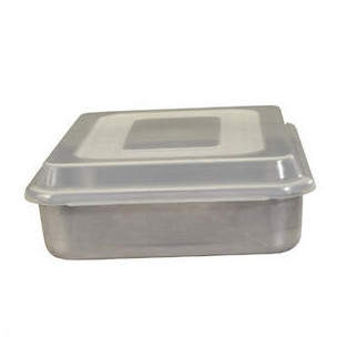 Nordicware Natural Commercial Square Cake Pan with Lid