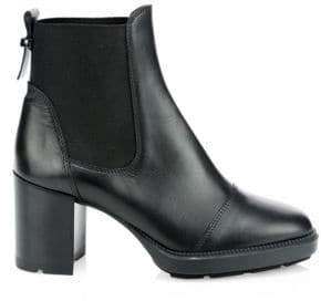 Aquatalia Ivory Leather Ankle Boots