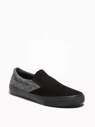 Old Navy Mixed-Fabric Slip-Ons for Men