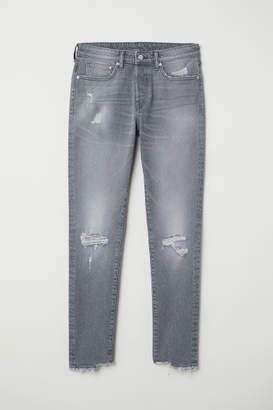 H&M Trashed Skinny Jeans - Gray