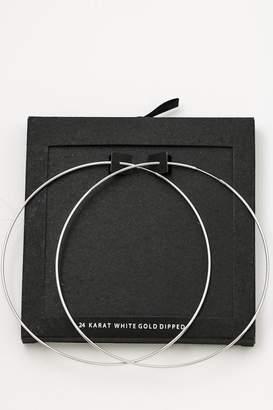 Secret Box 14k Gold-Dipped Hoops