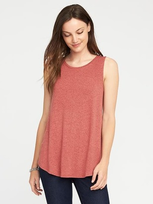 High-Neck Brushed-Knit Swing Tank for Women $16.99 thestylecure.com