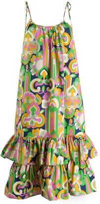La DoubleJ Simps geometric print dress