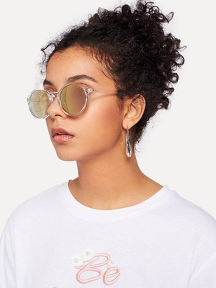 3a9cdf7def0 Clear Frame Sunglasses With Mirror Lens - ShopStyle