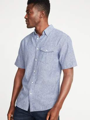 Old Navy Slim-Fit Linen-Blend Pocket Shirt for Men