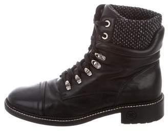 Chanel Cap-Toe Combat Boots