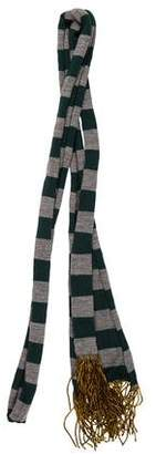 Burberry Stripe Chain-Link Trim Stole