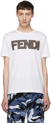 Fendi White Logo T-Shirt