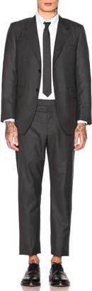 Thom Browne Wide Lapel Suit in Dark Grey   FWRD